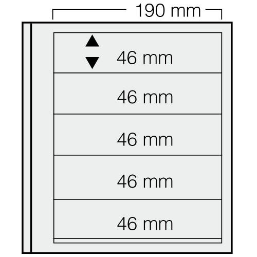 """Feuilles """"Spécial Dual""""- 5 Bandes - 46mm - Paquet de 5"""