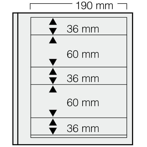 """Feuilles """"Spécial Dual""""- 35 Bandes - 36,60,36,60,36mm - Paquet de 5"""