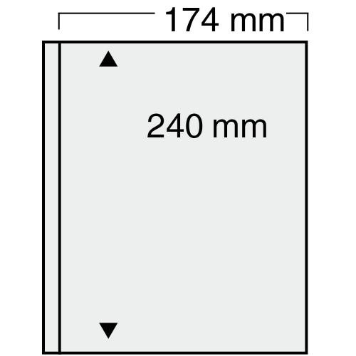 """Feuilles """"Compact"""" - 1 poche avec intercalaire sable - Paquet de 10"""