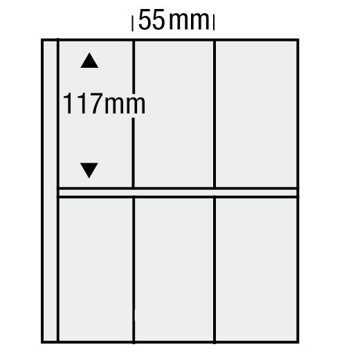 "Feuilles ""Compact"" - 6 Blocs verticaux - Paquet de 10"