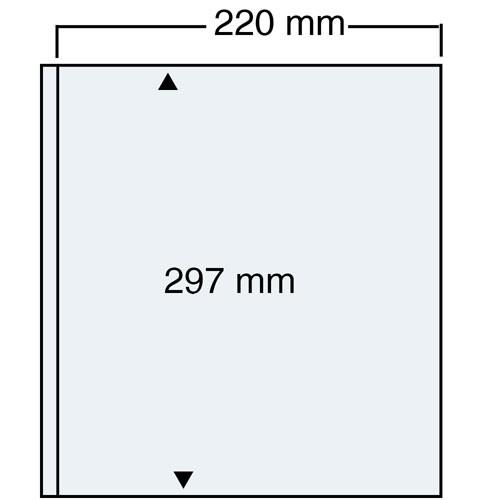 "Feuilles ""Compact A4"" - 1 Poche - Paquet de 10"
