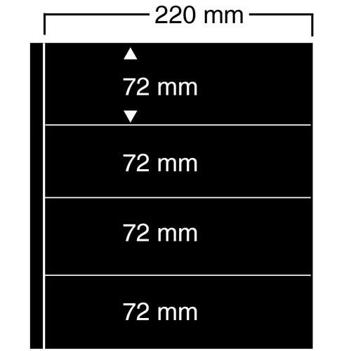 "Feuilles ""Compact A4"" - 4 Bandes - Paquet de 10"