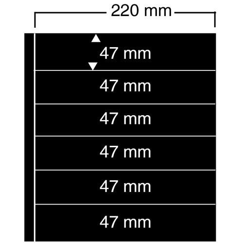"Feuilles ""Compact A4"" - 6 Bandes - Paquet de 10"