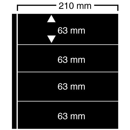 """Feuilles """"Compact A4"""" - ClipFix - 4 Bandes"""