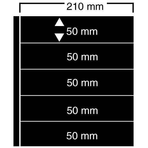 """Feuilles """"Compact A4"""" - ClipFix - 5 Bandes"""