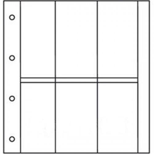 Recharges Album Cartes Postales LUXE : 6 cases verticales (Cartes modernes)