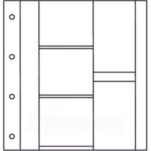 Recharges Album Cartes Postales LUXE : 3 cases horizontales + 2 verticales (Cartes modernes)