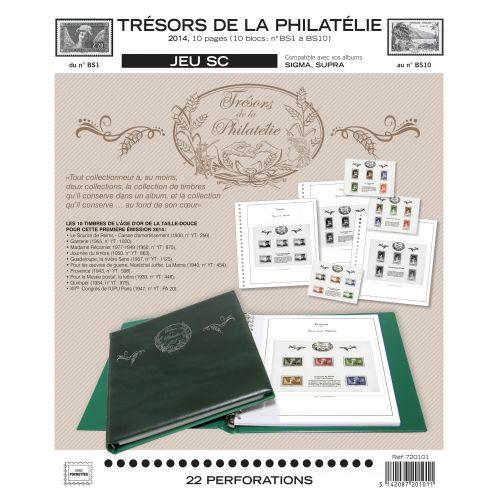 """""""Trésors de la Philatélie"""" SC : 2014 (avec pochettes)"""