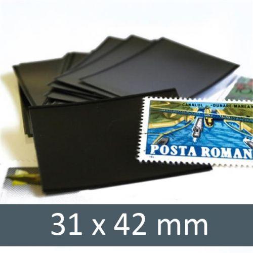 Pochettes double soudure - Lxh:31x42mm (Fond noir)