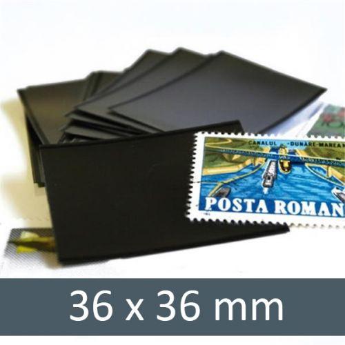 Pochettes double soudure - Lxh:36x36mm (Fond noir)