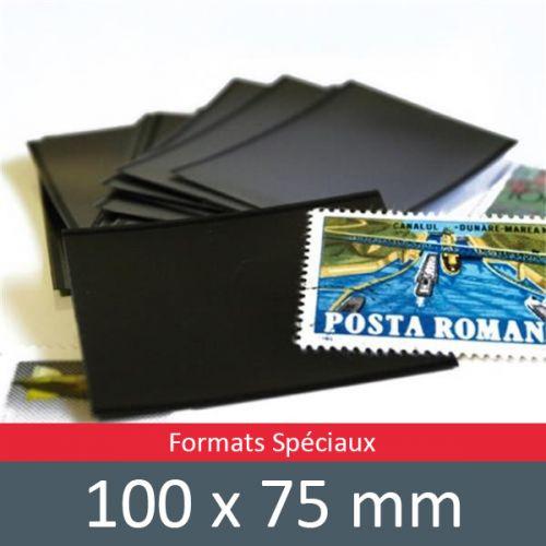 Pochettes double soudure - Lxh:100x75mm (Fond noir)