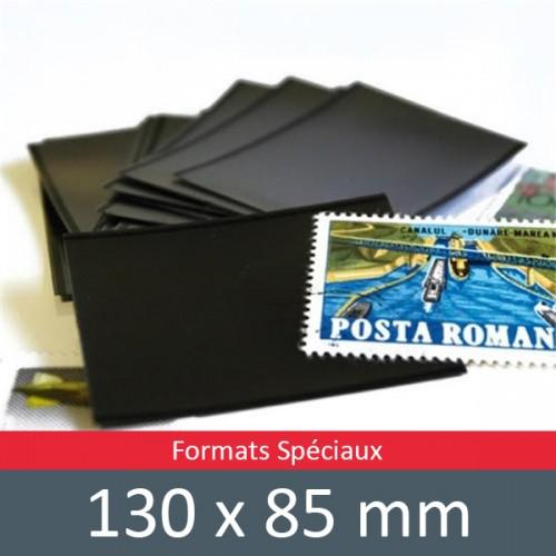 Pochettes double soudure - Lxh:130x85mm (Fond noir)