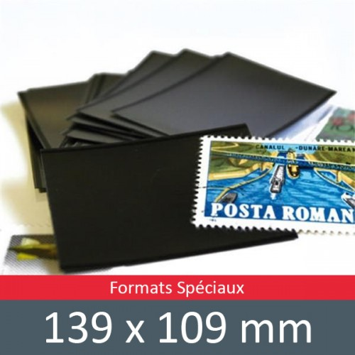Pochettes double soudure - Lxh:139x109mm (Fond noir)