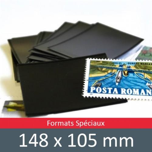Pochettes double soudure - Lxh:148x105mm (Fond noir)