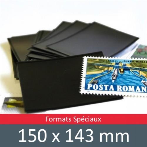 Pochettes double soudure - Lxh:150x143mm (Fond noir)