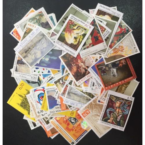 Lot de faciale 100 timbres à 6,70 Francs