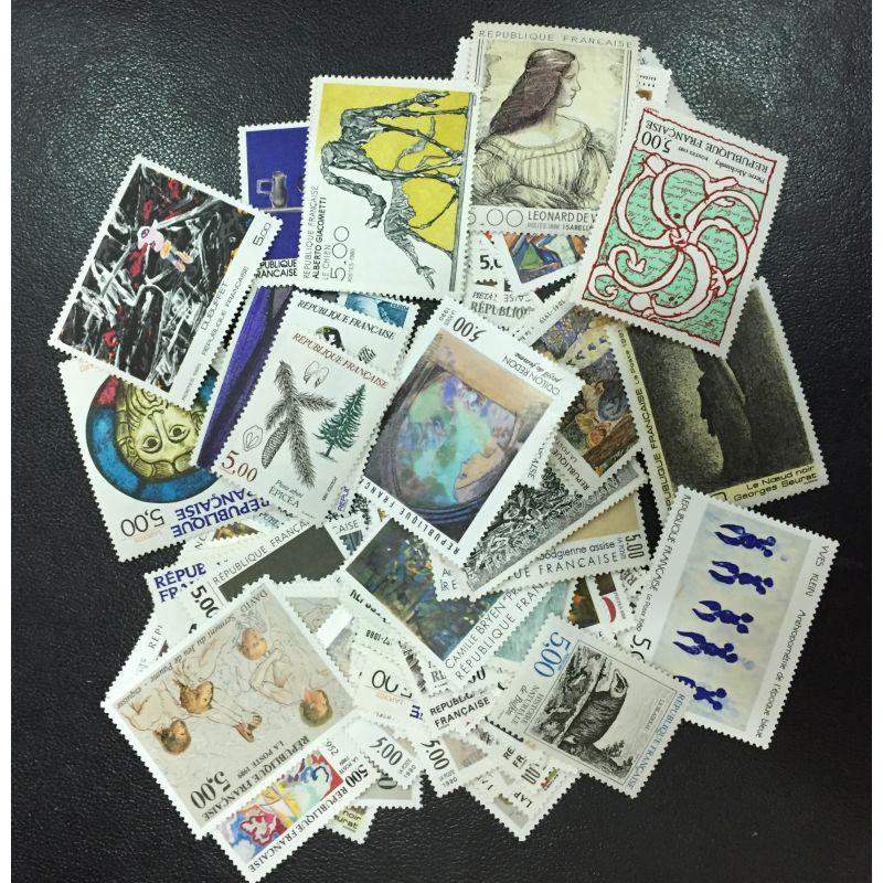 Lot de faciale 100 timbres à 5 Francs