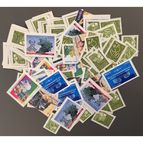 Lot de faciale 100 timbres de 0,70€ (70€)