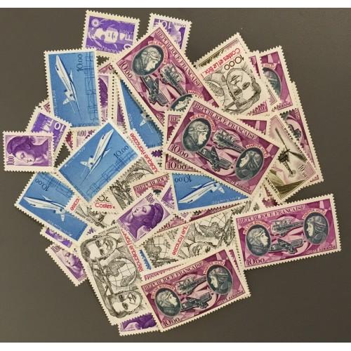 Lot de faciale 70 timbres à 10 Francs pour Affranchissement