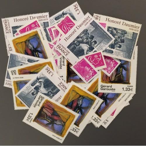 Lot de faciale 100 timbres à 1,33€ pour Affranchissement
