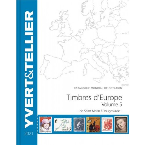 Timbres d'Europe - TOME 2021 - Volume 5 - S à Y