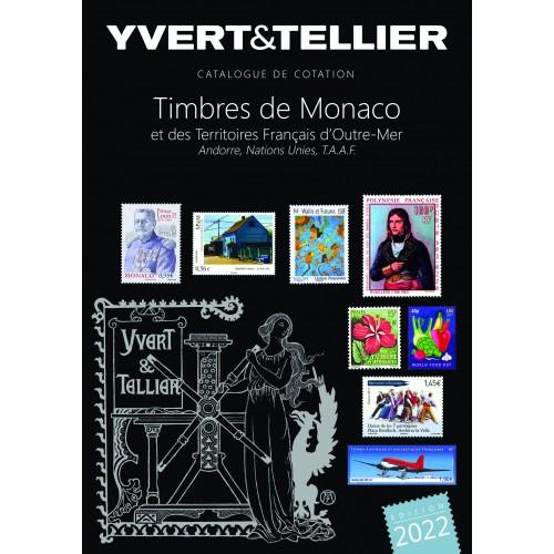 Catalogue Timbres de Monaco et territoires d'Outre-Mer 2022